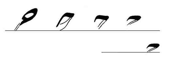 آموزش خط به دانش آموزان تحریر حرف ح به خوشنویسی (1)