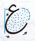 آموزش خط تحریری نوشتن دایره معکوس ع