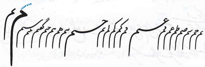 آموزش خط تحریری نوشتن م متصل آخر کلمه