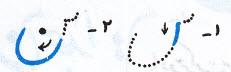 آموزش خط تحریری نوشتن (ن) متصل آخر کلمه