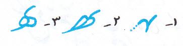 آموزش خط تحریری نوشتن ه متصل وسط کلمه