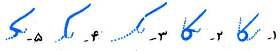 آموزش خط تحریری ک متصل در وسط کلمه