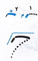 آموزش خوشنویسی با خودکار حرکت اول حرف ح