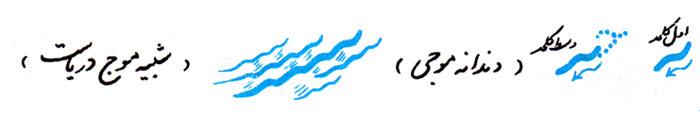 آموزش خوشنویسی با خودکار نوشتن دندانه موجی