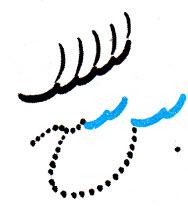 آموزش نوشتن خط تحریری نوشتن سین دندانه دار شانه ای