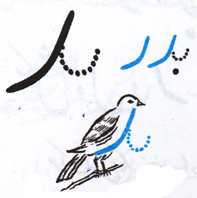 آموزش نوشتن د مرغی