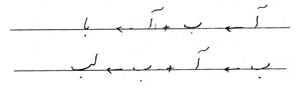 خط کرسی در خوشنویسی با خودکار