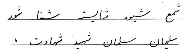 خوشنویسی حرف س
