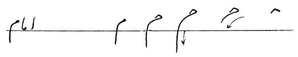 خوشنویسی حرف م درس یازدهم