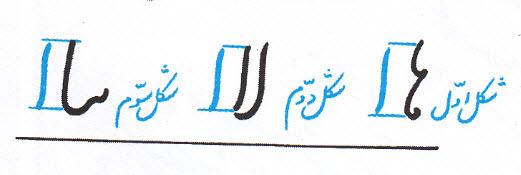 رتفاع الف با حروف قبل از آن
