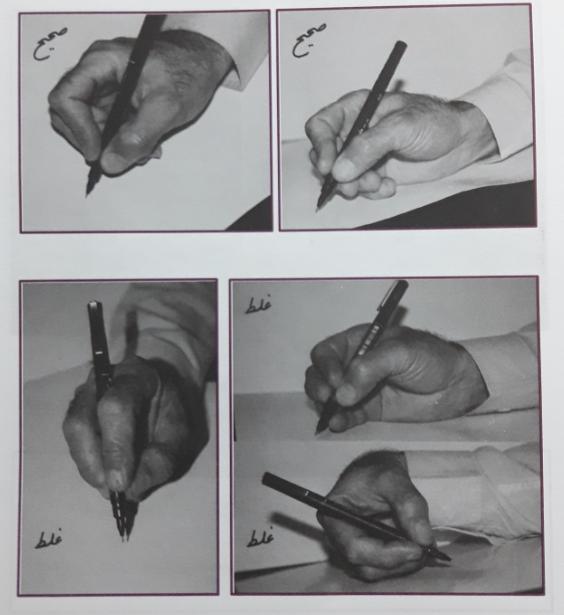 نحوه ی صحیح گرفتن قلم در دست